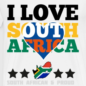 I Love south africa T-Shirts - Men's Premium T-Shirt