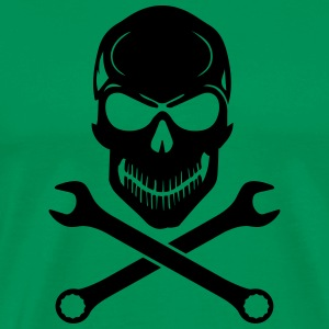 Car Tuning / Car & Bike Wrench - Skull T-Shirts - Men's Premium T-Shirt