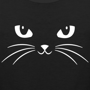 Cat Face With Big Eyes Tank Tops - Men's Premium Tank