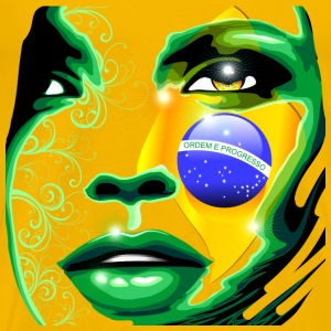 brazil girl art flag  - Men's Premium T-Shirt