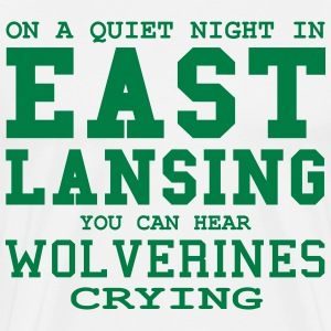 Quiet night in East Lansing T-Shirts - Men's Premium T-Shirt