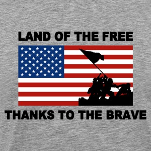 Land Of The Free Thanks To The Brave T-shirt - Men's Premium T-Shirt