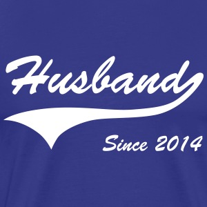 Husband Since 2014 T-Shirts - Men's Premium T-Shirt