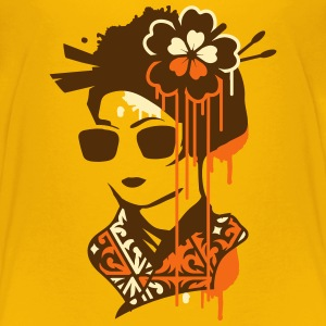 A geisha with sunglasses  Kids' Shirts - Kids' Premium T-Shirt