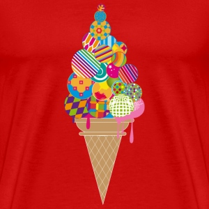 An ice cream cone T-Shirts - Men's Premium T-Shirt