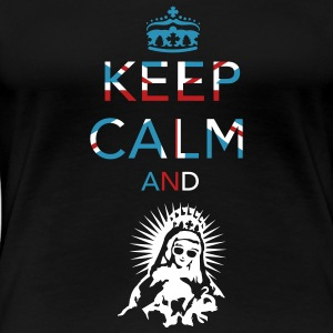 Keep calm ... Union Jack  Women's T-Shirts - Women's Premium T-Shirt