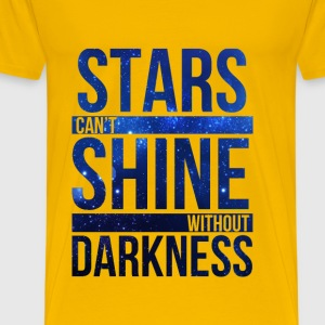 (STARS CAN'T SHINE WITHOUT DARKNESS) Blue Galaxy T-Shirts - Men's Premium T-Shirt