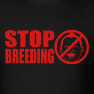 Design ~ Stop Breeding Lightweight cotton T-Shirt