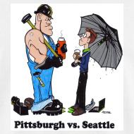 Design ~ Pittsburgh Vs Seattle T-Shirt