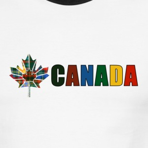 White/black Canada Tartan T-Shirts - Men's Ringer T-Shirt