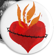 Design ~ Sacred Heart of Jesus Buttons!!!