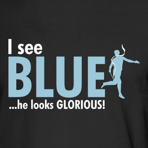 Black I see BLUE ...he looks GLORIOUS! Men - Men's Long Sleeve T-Shirt