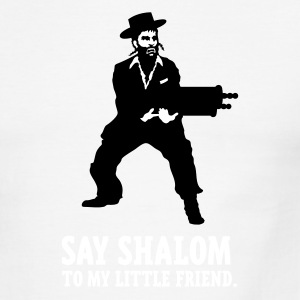 Say shalom to my little friend. - Men's Ringer T-Shirt