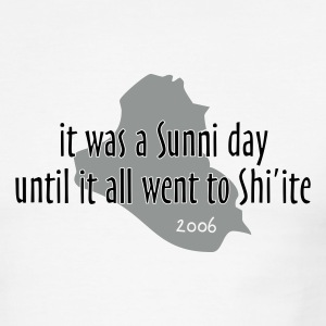 it was a Sunni day until it all went to Shi'ite - Men's Ringer T-Shirt