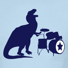 Sky/navy T-Rex Drums Men