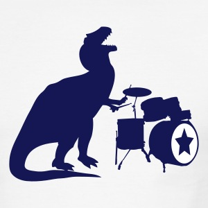 Sky/navy T-Rex Drums Men - Men's Ringer T-Shirt