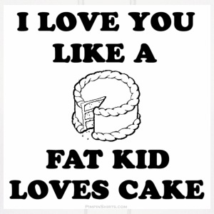 White fat kid loves cake Sweatshirt - Men's Hoodie