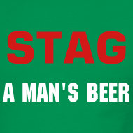 Design ~ STAG A MAN'S BEER - MEN'S RINGER - IZATRINI.com