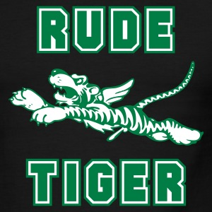 Green/white Rude Tiger Men - Men's Ringer T-Shirt