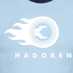 Red/white Hadoken Men - Men's Ringer T-Shirt