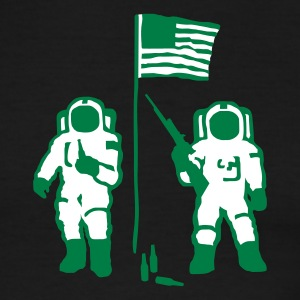 Green/white Moon Militia Men - Men's Ringer T-Shirt