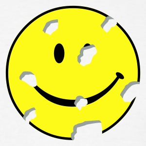 White shot smiley T-Shirts - Men's T-Shirt