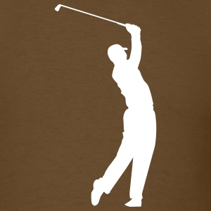Brown Golf T-Shirts - Men's T-Shirt