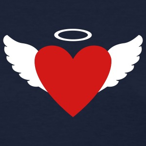 Navy Wing Heart Angel Women's T-Shirts - Women's T-Shirt