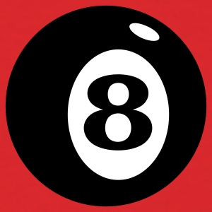 Red number 8 ball (2c) T-Shirts - Men's T-Shirt