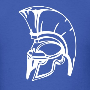 Royal blue trojans or spartans custom sports graphic T-Shirts - Men's T-Shirt
