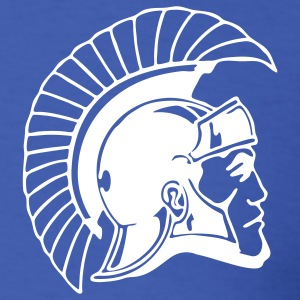 Royal blue Trojans or Spartans Team T-Shirts - Men's T-Shirt