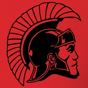 Red Trojans or Spartans Team T-Shirts - Men's T-Shirt