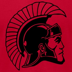 Red Trojans or Spartans Team T-Shirts - Men's T-Shirt by American Apparel
