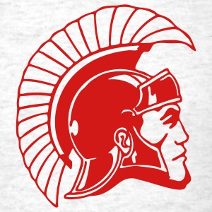 Ash  Trojans or Spartans Team T-Shirts - Men's T-Shirt