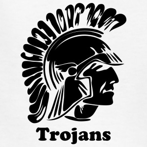 White Trojan or Spartan Custom Team Graphic Kids' Shirts - Kids' T-Shirt