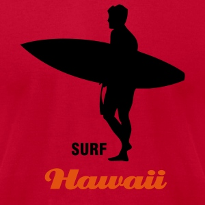 Lemon Surf Hawaii or surf the interent T-Shirts - Men's T-Shirt by American Apparel