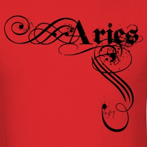 Red aires zodiac sign T-Shirts - Men's T-Shirt