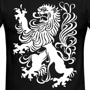 Black/white royal lion design T-Shirts - Men's Ringer T-Shirt