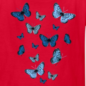 Red Blue Butterflies Kids' Shirts - Kids' T-Shirt