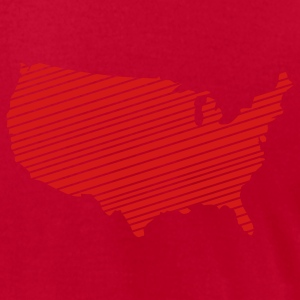 Lime USA - United States of America T-Shirts - Men's T-Shirt by American Apparel
