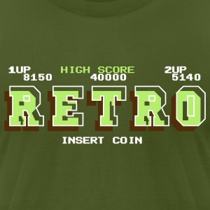Olive Retro T-Shirts - Men's T-Shirt by American Apparel
