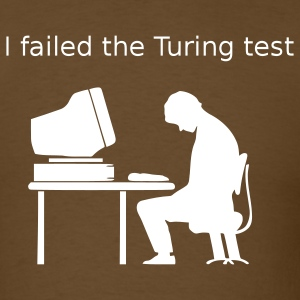 Brown Turing test T-Shirts - Men's T-Shirt