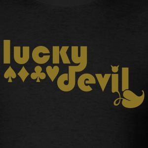 Black lucky devil T-Shirts - Men's T-Shirt