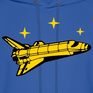Royal blue Spaceshuttle Hoodies - Men's Hoodie