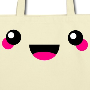 Creme kawaii face Bags  - Eco-Friendly Cotton Tote