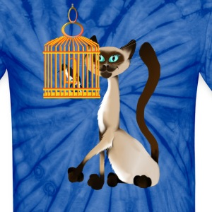 Bird Watching Kitty - Unisex Tie Dye T-Shirt