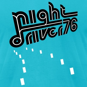 Turquoise Night Driver (pos) T-Shirts - Men's T-Shirt by American Apparel