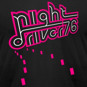 Black Night Driver (neg) T-Shirts - Men's T-Shirt by American Apparel