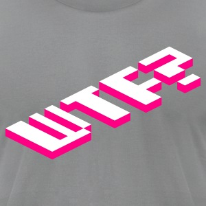 Slate WTF? T-Shirts - Men's T-Shirt by American Apparel