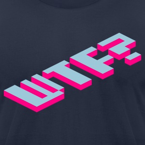 Navy WTF? T-Shirts - Men's T-Shirt by American Apparel